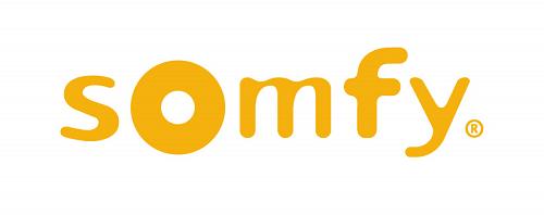 Logo Somfy - Partenaire pour les volets roulants de la Menuiserie Marquis